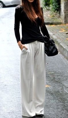 Wide trousers.