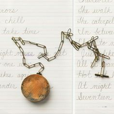 Amy Tavern Never Let Me Down, pocket watch detail brass, cursive writing practice paper, handkerchief, cotton thread
