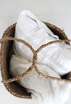 Linen basket.