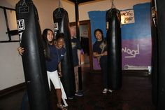 More fun with the punching bags!