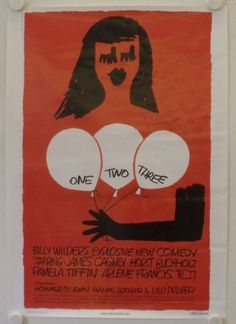 One Two Three - re-release german movie poster