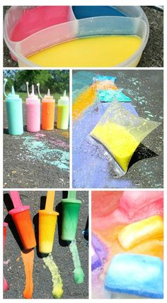 SUPER creative ways to PLAY with sidewalk chalk this Summer- I can't wait to try them all!