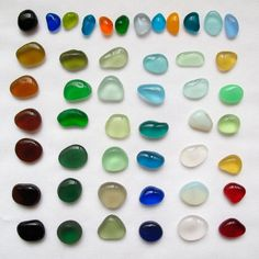 Vintage Rainbow Collection sea glass ~ 6d.Designs / Etsy