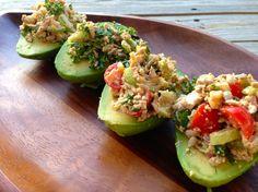 #Vegan raw seed-stuffed chipotle avocados