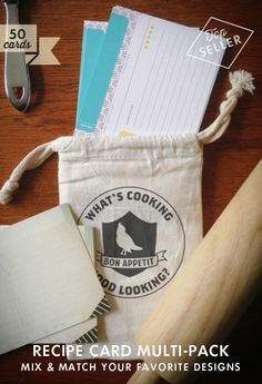 Mix & Match 50 Recipe Cards | Earmark Social Goods » Great gift idea!
