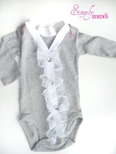 cute cardigan onesie idea