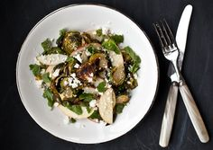 Roasted Brussels Sprouts and Apple Salad   Photograph by Ashley Rodriguez