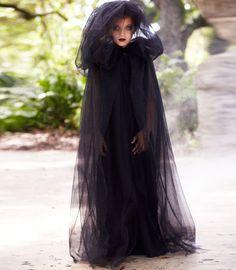 Shadow cape girls Halloween costume