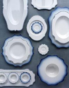 Dekor Blue 'Taste' plate, by Paola Navone, for Reichenbach.
