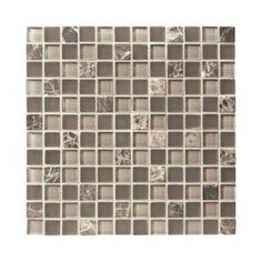 Jeffrey Court Auburn Emperador Glass Mosaics 12 in. x 12 in. Wall / Floor Tile-99086 at The Home Depot