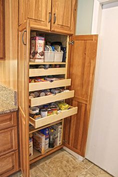 Kitchen Cabinets - Would love to remodel my pantry section to something like this!