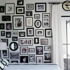 If you're doing mismatched frames, keep it one palette - like black and white #DIY #decorating #tips