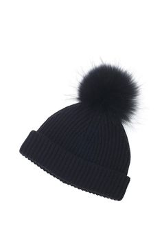 Hats with fur pom poms are big for fall? We've got this covered, fellow knitters.
