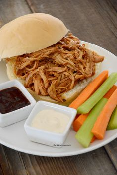Crockpot Pulled Pork Recipe|theidearoom.net