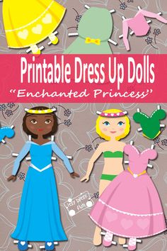 Printable Dress Up Paper Dolls - Play Printables for Kids princess, doll dresses, art crafts, paper dolls, kid art, kids printable, dress up, play printabl, printabl dress