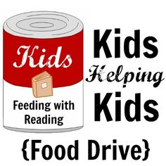Kids Feeding with Reading- A DIY food drive that combines reading with charity. Free printables to help keep your food drive organized!