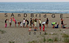 """""""Sandbridge"""" ... spelled out by a family visiting us here at the beach. How fun!  Come out and join the Sandbridge locals  Sandbridge Beach / Virginia Beach, VA - Siebert Realty"""