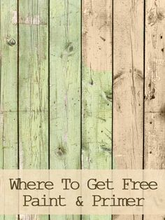 Where to get paint and primer FREE