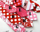 PetitePeanutBoutique on ETSY  How cute to accessorize your little boys too!  Valentine neckties!