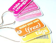 DIY hang tags