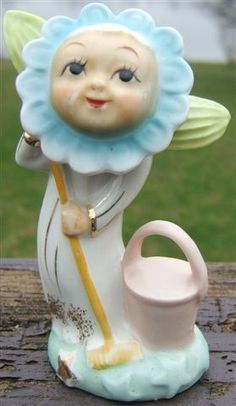 vintag, flower play, anthropomorph 1940, flower angel, anthropomorph fun