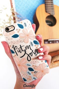 "Put on love. Click through to see more designs by Jenny @ French Press Mornings >>> <a href=""https://www.casetify.com/frenchpressmornings"" rel=""nofollow"" target=""_blank"">www.casetify.com/...</a> 