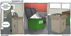 Business cat strikes again
