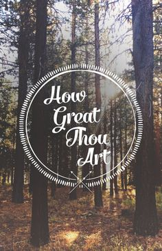 How Great Thou Art Stretched Canvas