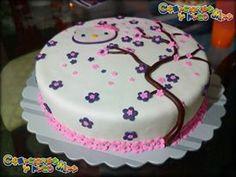 TORTA MOTIVO HELLO KITTY & FLOWER SAKURA