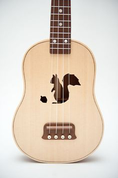 Squirrel - ukulele by celentanowoodworks,