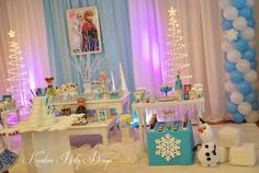 Amazing Frozen girl birthday party!  See more party ideas at CatchMyParty.com!