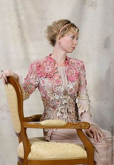 20.09.2012 Irish Crochet Jacket.  $438