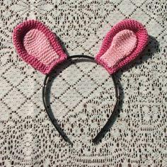 Crocheted rabbit hairbow