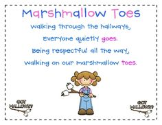Marshmallow Toes - intro activity for first days of school. Super cute for the little ones