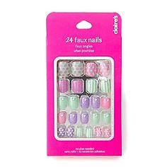 Pastel Glitter Faux Nail Set