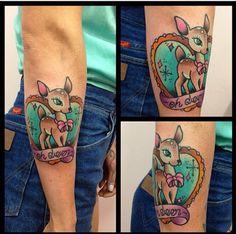 #ohdeer #deer #tattoo #tat #ink #feminine #kitsch #bambi #girly #cute