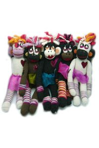 Super Cute Girl Sock Monkey! girl sock, sock monkeys, sock toy
