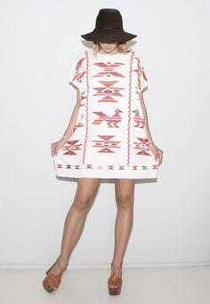 vintage embroidered dress