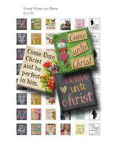 Come Unto Christ  Variety  Young Womens Theme by GreenJelloSalad, $3.00