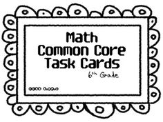 6th Grade Common Core Math Task Cards for 6.RP.3a.