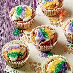Our Favorite Mardi Gras Recipes | Mini King Cupcakes | CoastalLiving.com