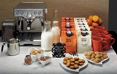 Coffee Bar at reception. Offer coffee, espresso, cappuccino, fresh whipped cream, chocolate shavings, caramels and assorted syrups. If you are coffee lovers, use little bags of coffee as wedding favors.