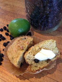 Janine's Real Food Recipes: Grain Free Saskatoon Berry Lime Muffins