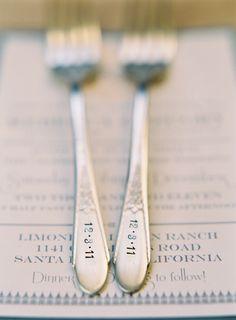 date stamped forks. love.