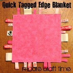 tags, babi tag, tag blanket, sew, quick babi, minut craft, craft idea, quick tag, blankets