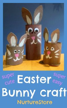 toilet paper rolls, easter crafts, preschool craft, craft idea, bunny crafts