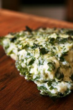 Crustless quiche with kale