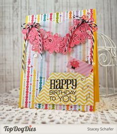Card by Stacey Schafer using Birthday To You from Verve.  #vervestamps