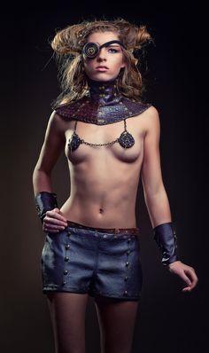 Blanche - Sexy Steampunk Fetish burlesque Nipple pastie Jewellery