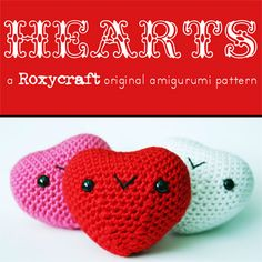 heart amigurumi free crochet pattern by ROXYCRAFT.COM